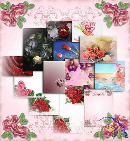 ���� ��� ������� - Flower Backgrounds
