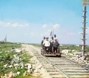 Фото 1916г. На дрезине за пределами Петрозаводска по Мурманской железной дороге, на берегу Онежского озера