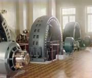 Фото 1911г. Машинный зал крупнейшей в дореволюц. России Гиндукушской ГЭС мощностью 1,35 Мвт (1350 кет)  Иолотань на реке Мургаб (Туркмения). Её строительство завершилось в 1909