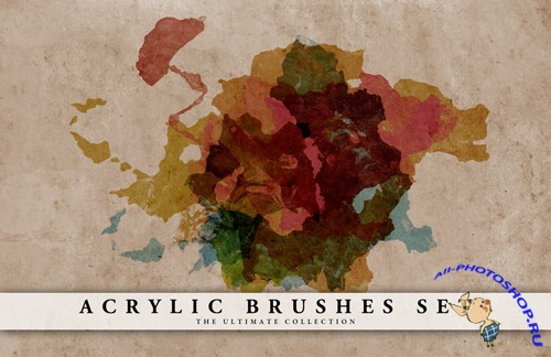 Acrylic Brushes Set