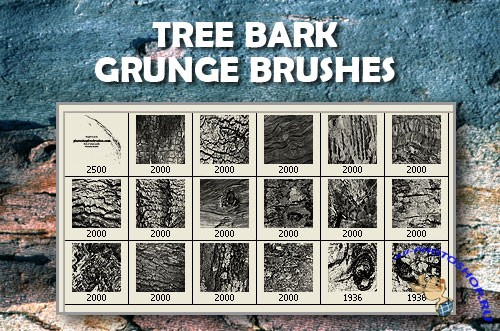 Tree Bark Grunge Brushes