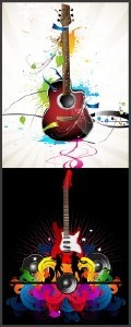 Vector Abstract Guitars