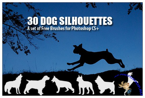 Dog Silhouettes PS Brushes
