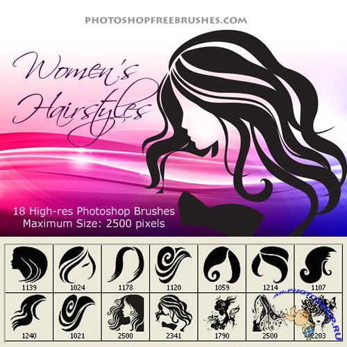 Woman Hair Photoshop Brushes