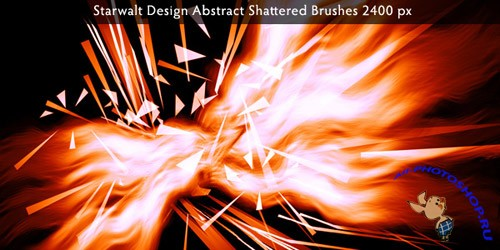 Starwalt Abstract Shattered Brushes