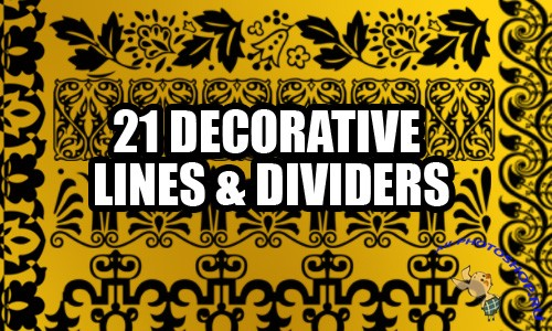 Decorative Lines - Photoshop Brushes