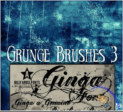 Free Grunge Font and Brushes