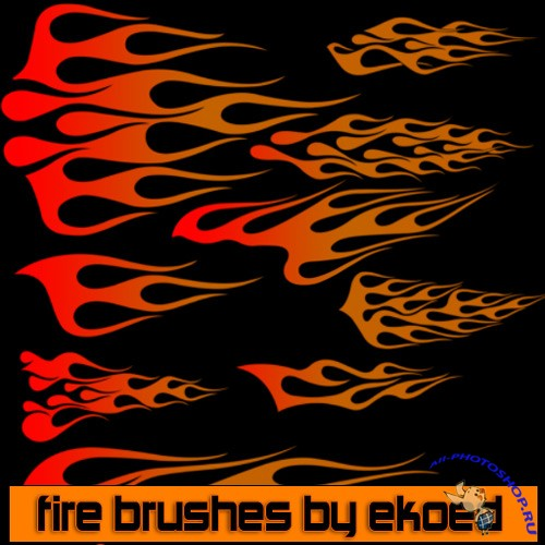 Fire Brushes by ekoed