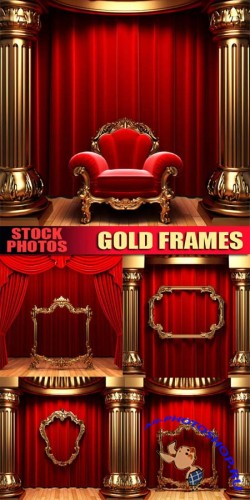 Stock photo - Gold frames