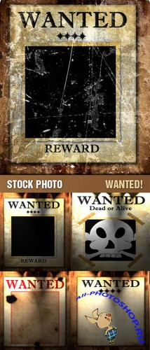 Stock Photo - Wanted / Розыск