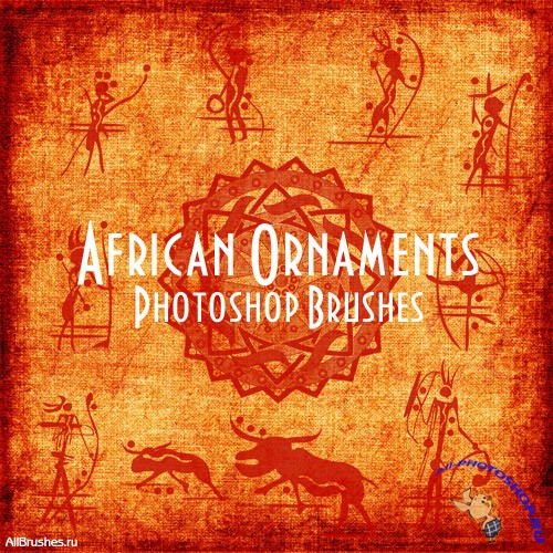 African Ornaments Brushes