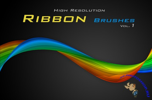 Кисти для PhotoShop (Ribbons brushes by Rozairo)