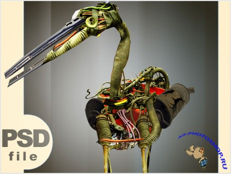 PSD-исходник (Scrap bird PSD file by TLMedia)