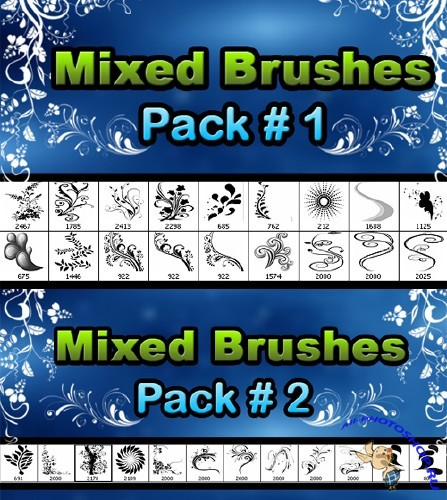 Floral brushes pack