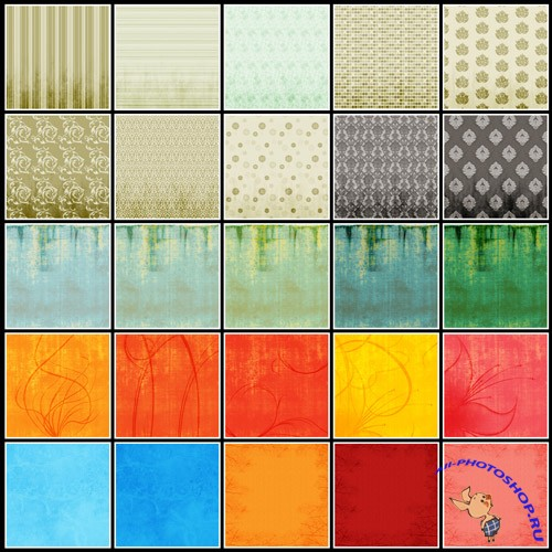 25 textured papers set