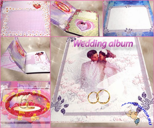 Футажи Wedding album