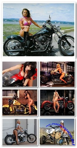 Обои  - Sexy Girls With Bikes Wallpapers (1024 X 768)