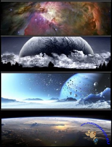 Universe and Abstract Universe DualScreen Wallpapers