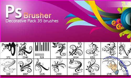 Floral Decorative Brushes