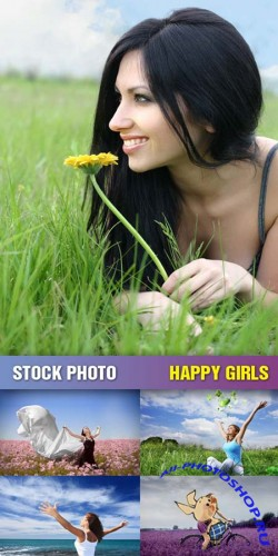 Stock Photo - Happy Girls