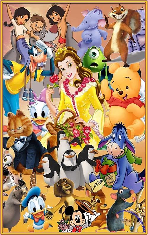 Набор героев мультфильмов диснея