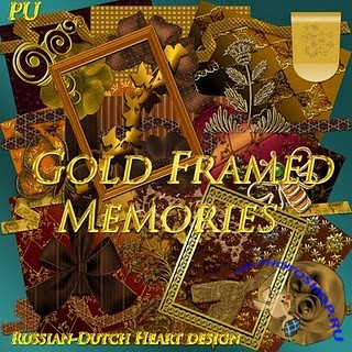 Скрап-набор – Gold framed memories
