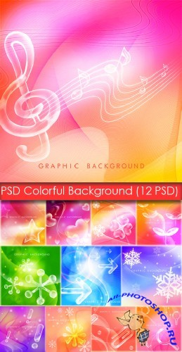 PSD Source - Colorful Background (PSD ��������� - ��������� ����)