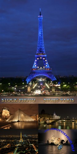 Stock Photo - Night Paris