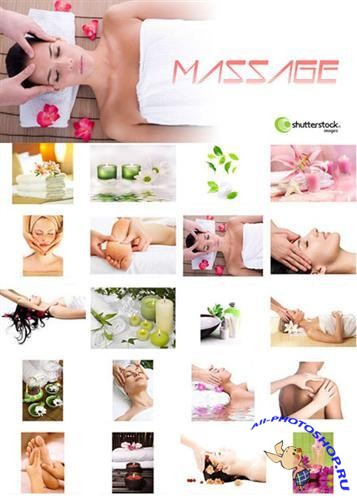 Hand massage - Stock Photos