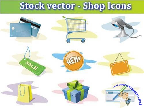 Stock vector - Shop Icons