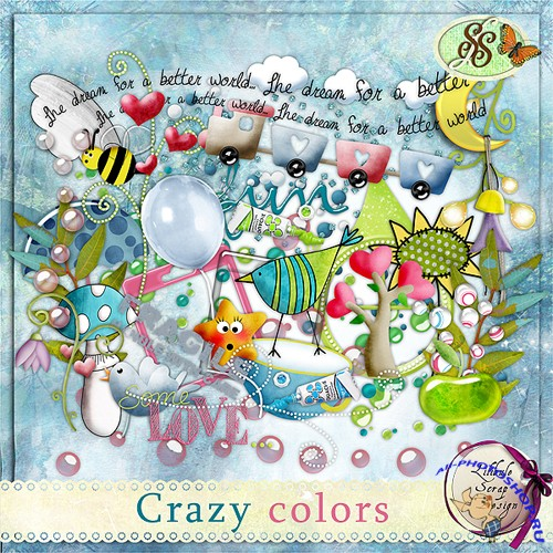 "A skrap-set of ""Crazy Colors"""
