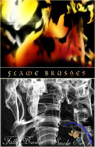 Brushes for Photoshop - Smoke and Fire