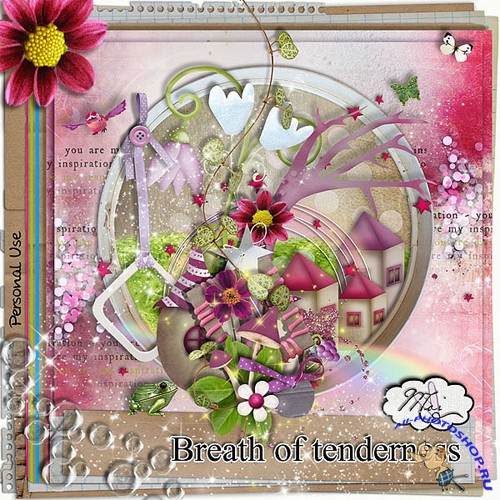 "Scrap set ""Breath of tenderness"""