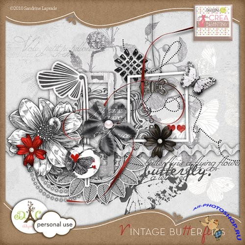 "Scrap-collection ""Vintage Butterflies"""
