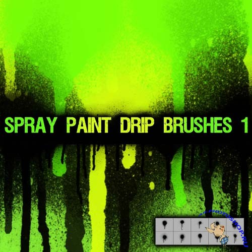 Spray Paint Drip 1 Brush