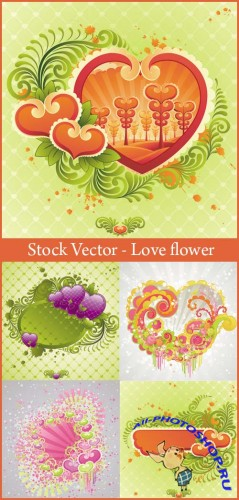 Stock Vector - Love flower