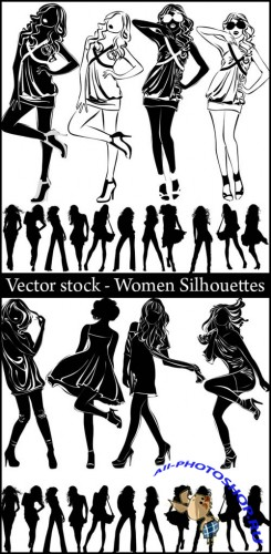 Vector stock - Women Silhouettes