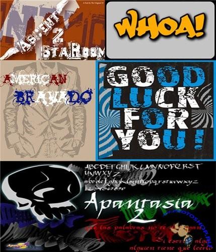 Шрифты калиграфические и граффити