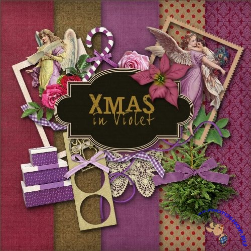 Scrap-kit - Christmas in purple