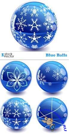 Stock vector - New Blue Balls