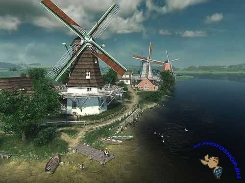Dutch Windmills 3D Screensaver 1.0.0.4