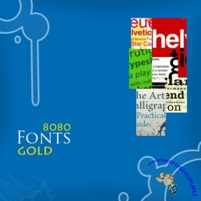 Gold collection of fonts