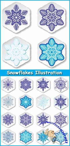 Snowflakes Illustration - Stock Vectors