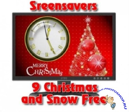 Nine Christmas and Snow Free Sreensavers #37