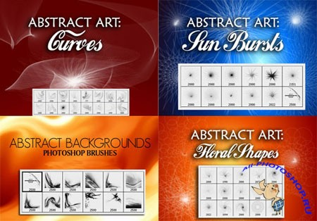 Photoshop Brushes-Set Of Abstract