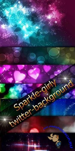 Sparkle girly twitter (12 backgrounds)