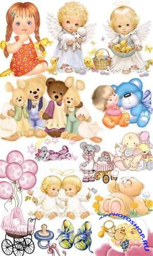Children's clipart (dolls and toys)