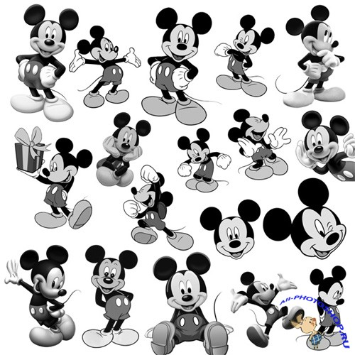 ABR Кисти для Adobe Photoshop - Mickey Mouse