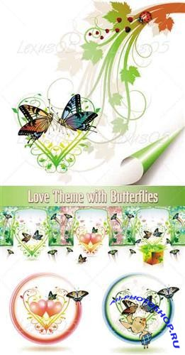 Love Theme with butterflies