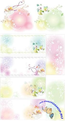 Snow-white floral background
